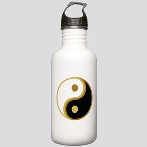 Yin Yang, Gold Stainless Water Bottle 1.0L